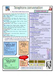 English Worksheet: Telephone conversation