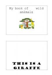English Worksheets: wild animal bookleet
