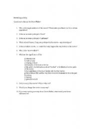English Worksheets: Prewriting exercise for SNOWWALKER movie