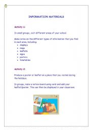 English Worksheets: Information Materials
