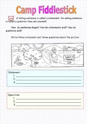 English Worksheets: Camp Fiddlestick
