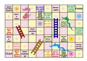 English Worksheet: Board Game- Snakes and Ladders