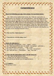 English Worksheets: Mrs. Nabil and the Thief