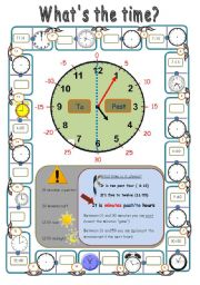 English Worksheet: what�s the time