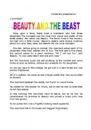 beauty and the beast story summary