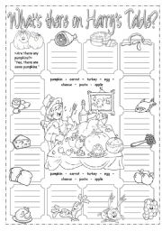 English Worksheet: What�s there on Harry�s table?