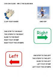 cha cha slide left right clap hands directions fun dance. Black Bedroom Furniture Sets. Home Design Ideas