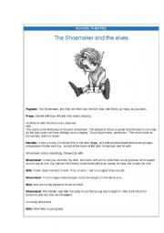 English worksheet: The shoemaker and the elves