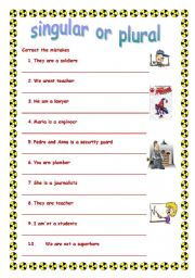 singular or plural- verb to be