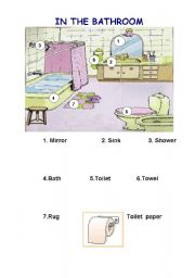 Awesome Bathroom Furniture Vocabulary