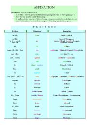 English Worksheets: Affixation