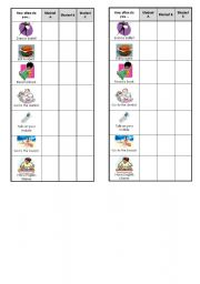English Worksheets: Activity Cards - How Often?