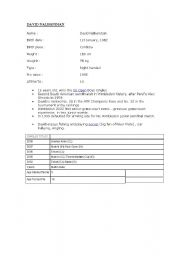 English Worksheets: Writing profiles