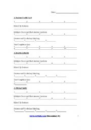 English Worksheets: Answer sheet for www.esl-lab.com level 4