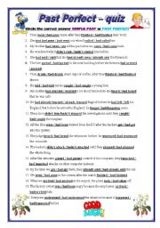 Past perfect - worksheet by pirchy