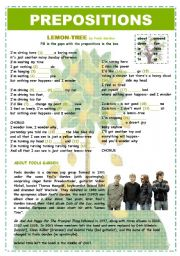 English Worksheet: PREPOSITIONS - LEMON TREE