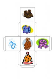 English Worksheet: Winter clothes dice