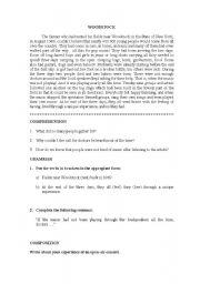 English Worksheets: selectividad woodstock