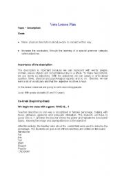 English Worksheets: The description