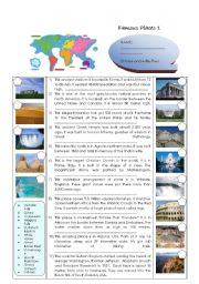 English Worksheet: COUNTRIES: FAMOUS PLACES