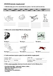 English Worksheets: Animals in action