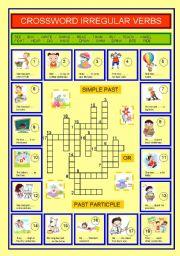 Crossword irregular verbs