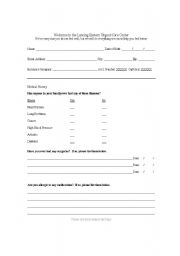 Printables Office Worksheets english teaching worksheets in the office doctor form for patient intake activity