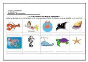 English Worksheets: sea creaturs
