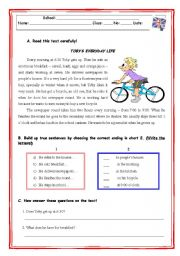 English Worksheets: TOBY`S EVERYDAY LIFE