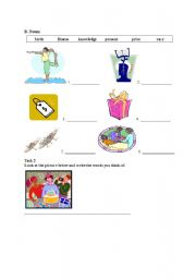 English Worksheets: vocabulary and writing