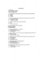 English Worksheet: First Aid Quiz