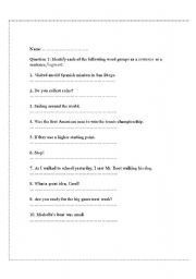 Printables Sentence Fragment Worksheet english worksheets sentences and sentence fragments worksheet fragments