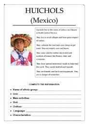 English Worksheets: HUICHOLS