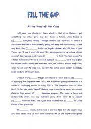 English Worksheets: FILL THE GAP