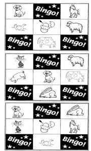 English Worksheets: Animal Bingo!