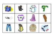 English Worksheets: Clothes - Memory Game