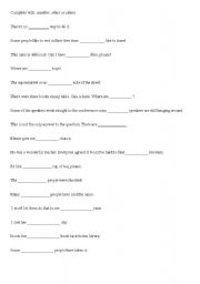 English Worksheet: another, other or others