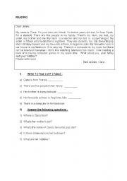 English worksheet: Reading Study