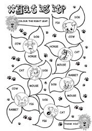English Worksheet: What is it? (1/2) (farm animals)