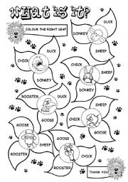 English Worksheets: What is it? (2/2) (farm animals)