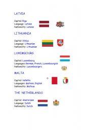 English Worksheet: European Union countries - part 2
