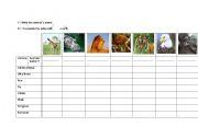English Worksheet: Wild animals actions