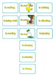 English Worksheet: ACTIONS - ANIMALS MEMORY CARDS part 2