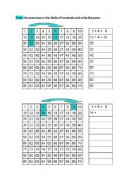 English Worksheets: Additions in fields of hundreds
