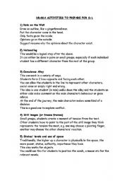 English Worksheet: drama activities