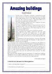 English Worksheet: Amazing buildings in the world 2 (15.03.09)