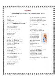 English worksheet: Duffy- Mercy Lyrics and Exercise