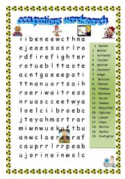 occupations wordsearch