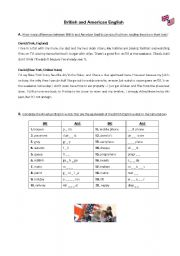 English Worksheets: AmE & BrE