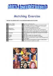 English Worksheets: Multi-Language World